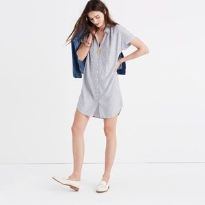 Madewell Central Shirt Dress in Stripe
